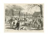 Skating in Hyde Park Giclee Print by John Leech