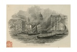 Civil War on the Thames Giclee Print
