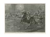 The Arab Horsemen at the Paris Hippodrome, Olympia Giclee Print by John Charlton