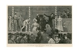 Bartholomew Fair, London: an Old-Time Show of Eighty Years Ago Giclee Print by Charles Green