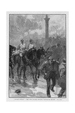 Bloody Sunday: the Life Guards Holding Trafalgar Square Giclee Print by William Barnes Wollen