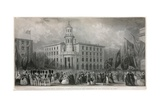 The New Coal Exchange, Thames Street, at the Ceremony of its Opening in 1849 Giclee Print by John Francis Salmon