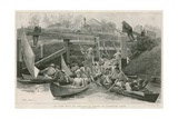 On the Way to Henley - a Scene in Cookham Lock Giclee Print by Arthur Hopkins