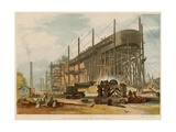 The Great Eastern on the Stocks Giclee Print by John Wilson Carmichael
