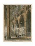Westminster Abbey, London Giclee Print by Augustus Charles Pugin