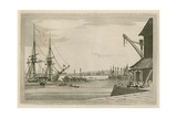 View of Greenwich from Deptford Yard Giclee Print by Joseph Farington