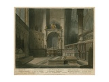 West View of St Edmund's Chapel, Westminster Abbey, London Giclee Print by Augustus Charles Pugin