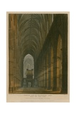 Interior View of Westminster Abbey, London, from the West Gate Giclee Print by Frederick Mackenzie