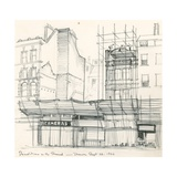 Demolition in the Strand, Drawn 26 September 1966 Giclee Print by Peter Jackson
