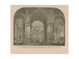Interior of Sir Christopher Wren's First Design Giclee Print