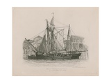 Schooner and Smack Lying at Fresh Wharf Giclee Print by Edward William Cooke