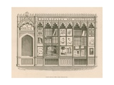 Gothic Shop Front Design for a Bookseller and Stationer, Designed to Evade Lease Restrictions on… Giclee Print by Nathaniel Whittock