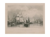 The Thames Near Limehouse: Lower Pool Giclee Print by Edward William Cooke