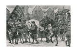 The Coronation Procession of Edward VI Through London Giclee Print by Richard Caton Woodville