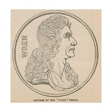 Obverse of the Wren Medal Giclee Print