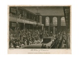 The House of Commons, Destroyed by Fire, 16 October 1834 Giclee Print by Edward Pugh