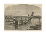 General View of Charing Cross Railway Bridge Giclee Print