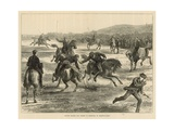 Officers Playing Polo (Hockey on Horseback) on Woolwich Common Gicleetryck