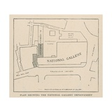 Plan Showing the National Gallery Improvement Giclee Print