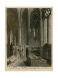 West Side of St Erasmus Chapel, Wesminster Abbey, London Giclee Print by Augustus Charles Pugin