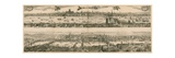 Two Views of London: 1616 and 1890 Giclee Print