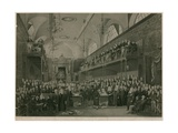 Interior of the House of Lords, Westminster, London, During the Important Investigation in 1820 Giclee Print by Francis Phillip Stephanoff