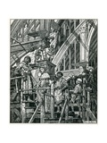 Building Westminster Hall Giclee Print by Peter Jackson