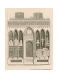 Shop Front Design in the Early English Style Giclee Print by Nathaniel Whittock