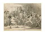 A Fencing Match Giclee Print by Thomas Rowlandson