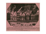 The Houses of Lords and Commons on Fire, 16 October 1834 Giclee Print by Charles Keene