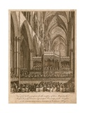 Commemoration of Handel, Westminster Abbey, London Giclee Print by Edward Dayes