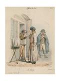 Affaires Du Jour - La Loterie Giclee Print by Edme Jean Pigal