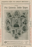 Advert for an Appearance of the Fisk University Jubilee Singers Photographic Print