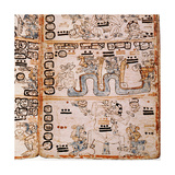 Detail of a Page from the Codex Troana Cortesianus, also Know as the Madrid Codex Giclee Print