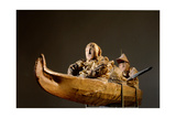 Two Figures in a Kayak - a 'soul Boat' Giclee Print