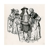 Mr and Mrs Pepys in Gray's Inn Gardens, London Giclee Print by Peter Jackson