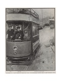 Murderers on a Tram Pursued by Police on a Tram Giclee Print by Cyrus Cuneo