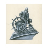 Steering a Sailing Ship Giclee Print by Peter Jackson
