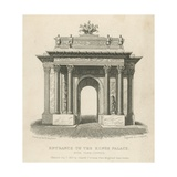 Entrance to the Kings Palace, Hyde Park Corner Giclee Print by Thomas Hosmer Shepherd