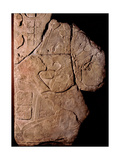 Stone Tablet with a Relief Depicting a Priest Making Offerings to a Cacao Plant Giclee Print