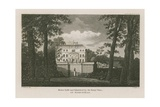 House Built and Inhabited by Sir Henry Vane at Hampstead Giclee Print by William Davison