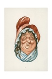 Mrs Gamp, Martin Chuzzlewit Giclee Print by Peter Jackson