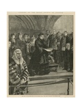 Opening of the Royal Courts of Justice Giclee Print by William Heysham Overend