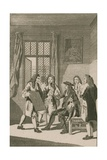 Sir Christopher Wren Presenting to King Charles II His Plan for Rebuilding the City of London Giclee Print