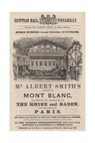 Advert for Mr Albert Smith's Appearance at the Egyptian Hall Giclee Print