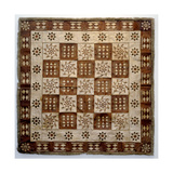 Decorated Rug Made of Animal Skin Squares Giclee Print