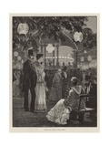 Evening Fete for the Benefit of the London Hospitals - Music in the Gardens Giclee Print by Richard Caton Woodville