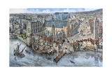 Old London Reconstructed: the Palace of Westminster About 1530 Giclee Print by Peter Jackson