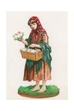 Flower Seller Giclee Print by Peter Jackson