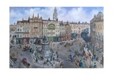 Old London Reconstructed: Charing Cross About 1830 Giclee Print by Peter Jackson